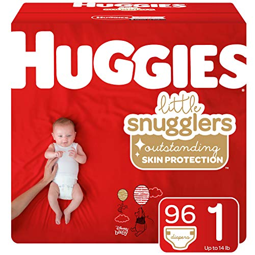 Huggies Little Snugglers Baby Diapers, Size 1, 96 Count (Packaging May Vary)