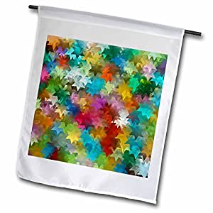 Lee Hiller Designs Mix Match Décor - Falling Stars - Wildflowers - 18 x 27 inch Garden Flag (fl_43002_2)