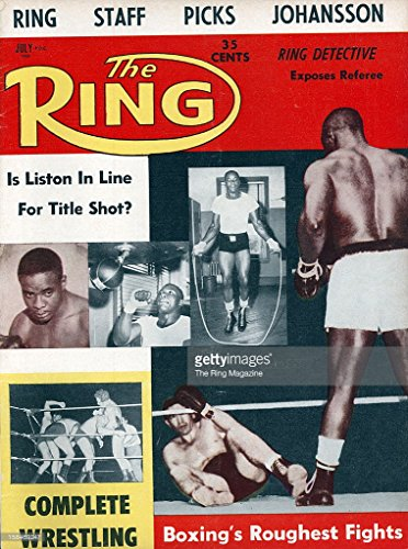 Ring Boxing Magazine - The Ring. July 1960. [Boxing Magazine] Cover: Sonny Liston