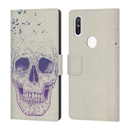 Official Balázs Solti Let Them Fly Skulls Leather Book Wallet Case Cover for Xiaomi Mi Mix 2S from Head Case Designs