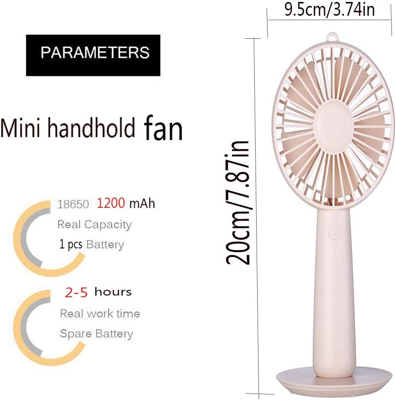 Outdoor and Travel Portable Mini Handheld Desktop Fans Electric USB Table Rechargeable Powered Fan for Home Office Camping