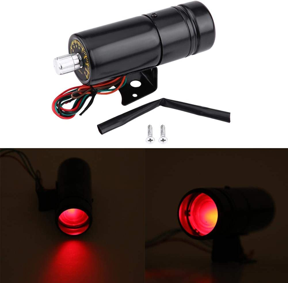 Tachometer Light 11000RPM Motorcycle LED Red Light Adjustable Alarm separately Tachometer Gauge Shift Light 5.3 x 1.7inch