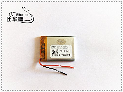 BIHUADE 3.7V 800MAH 703040 Lithium Polymer Li-Po Rechargeable Battery for DIY Mp3 MP4 MP5 GPS