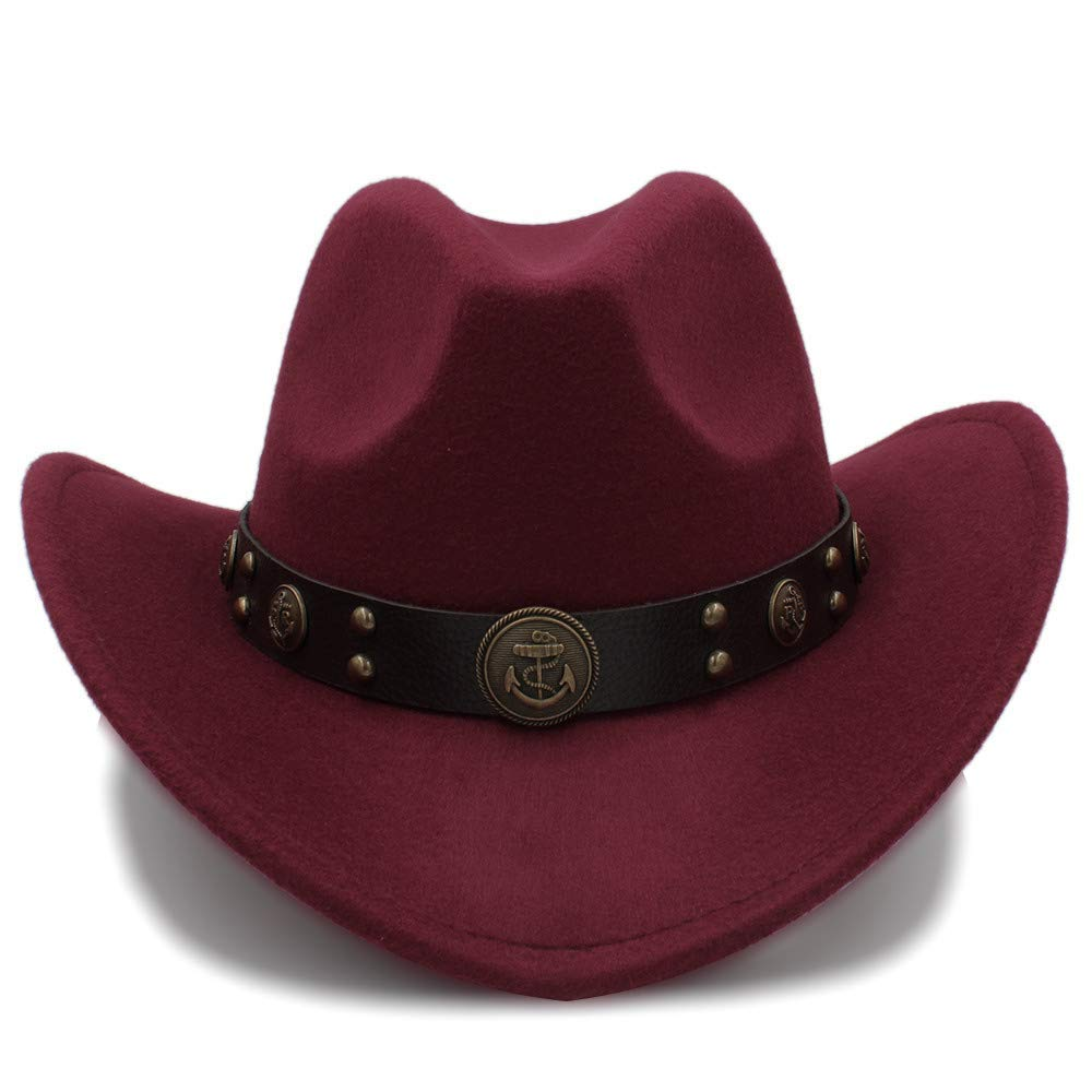09f6a972087ef Sombrero Suave para Mujer 100% Lana Sombrero de Vaquero para Hombres  Sombreros Vaquero Western American Mens Winter Western Fieltro Sombrero  para Adultos ...