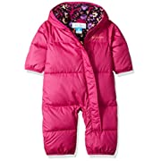 Columbia Baby Boys' Snuggly Bunny Bunting, Deep Blush, 3-6 Months