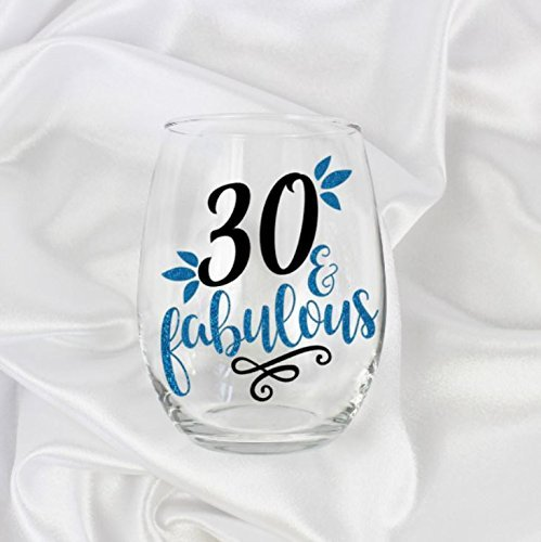 gifts for 30 year old women 30th birthday stemless wine glass 21oz 0080