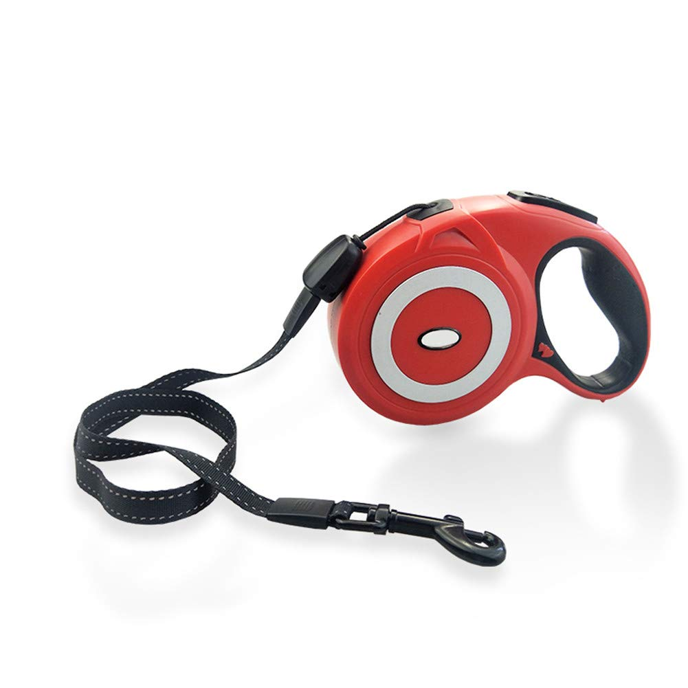 Red 5m Red 5m Dog Retractable Leads Comfortable Ergonomic Hand Grip, Tangle Free Extends up to 5 8m of Freedom and Predection Great for Small to Large Dogs
