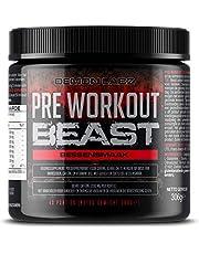 Pre Workout Beast (Bessen Smaak) – Een Hardcore pre-Workout Supplement met Creatine, Caffeine, Beta-Alanine en Glutamine (Regular – 306 grams – 40 porties)