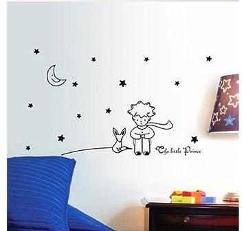 ZJMIQT Estrellas Luna El Principito Boy Pegatina de Pared ...