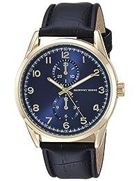 Geoffrey Beene Men's Quartz Metal and Polyurethane Dress Watch, Color:Black (Model: GB8065GDNV)