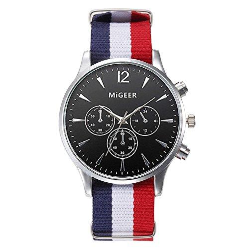 Muranba 2019 ! Luxury Fashion Canvas Mens Analog Watch Wrist Watches (Black)