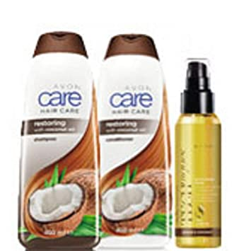 Avon Care Coconut Hair Care Pack Includes Avon Care Coconut Oil