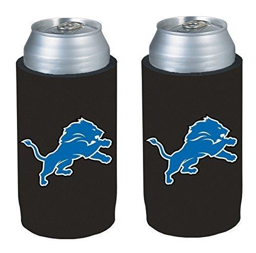 NFL 2013 Football Ultra Slim Beer Can Holder Koozie 2-Pack - Pick your team (Detroit Lions)