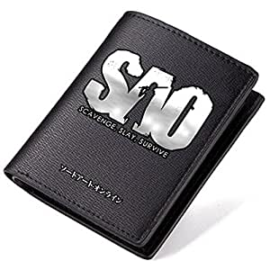 Anime Sword Art Online SAO Cosplay Wallet Black Pu Leather (#02)