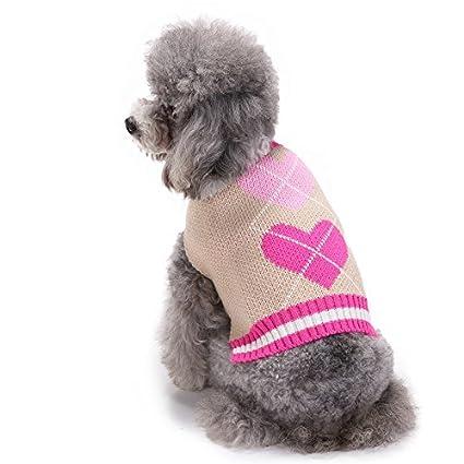 Abrigo para perro con forma de corazón rosa para perros pequeños y medianos: Amazon.es: Productos para mascotas