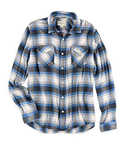 Lauren Ralph Denim & Supply Casey Blue Gray Size: XL/TG Vintage Plaid Twill Work Shirt