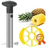 KUDES Professional Stainless Steel Pineapple Peeler and Slicer, Upgraded Version Kitchen Cutter Tool, Fruit Pineapple Corer