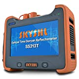 SKYSHL 1310nm +1550nm 32dB + 30dB OTDR Testing (Built-in OPM OLS VFL and Event Map) Fiber Tester SM 7inches Touch Screen Optical Time Domain Reflectometer (SC ST FC LC UPC Adapter)-SS313T-2A (Color: Orange+Gray, Tamaño: 9.05*6.49*2.75inch)