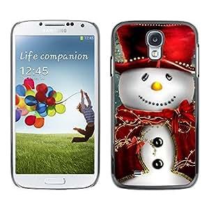 YOYO Slim PC / Aluminium Case Cover Armor Shell Portection //Christmas Holiday Friendly Snow Man 1104 //Samsung Galaxy S4