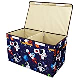 Softcloudy Storage Bin Toy Storage, Collapsible Chest Box Toys Organizer Cover Plush Toys, Stuffed Animals, Books, Children's Clothes, Small Items,Gifts Large Toy Chest Blue