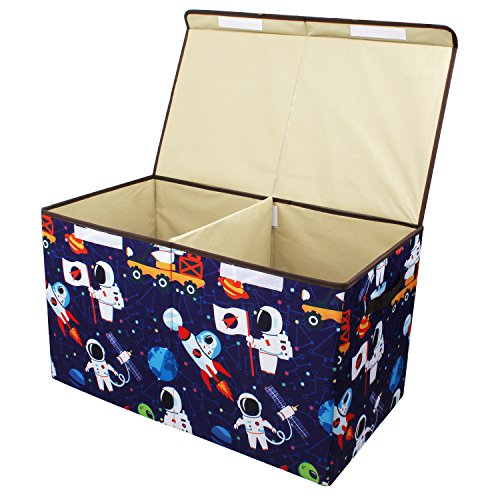 Softcloudy Storage Bin for Toy Storage, Collapsible Chest Box Toys Organizer with Cover for Plush Toys, Stuffed Animals, Books, Children's Clothes, Small Items,Gifts Large Toy Chest Blue by Softcloudy