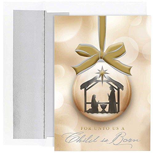 Ornaments Christmas Card (JAM Paper Christmas Card Set -