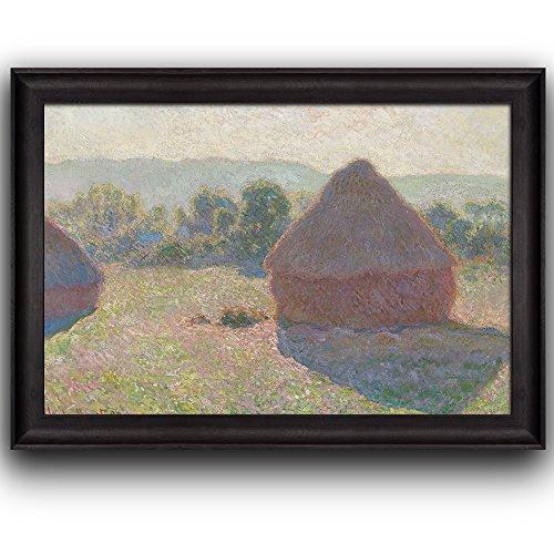 Meules Milieu Du Jour (Haystacks Midday) by Claude Monet Framed Art
