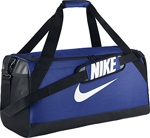 NIKE Brasilia Training Duffel Bag, Game Royal/Black/White, Medium