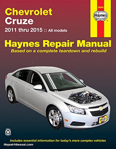 H24044 Chevrolet Cruze Haynes Automotive Repair Manual 2011-2015