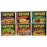 Spam Sampler 12oz Cans (Pack of 6 Different Flavors)
