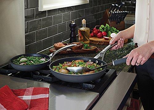 Calphalon Signature Hard Anodized Nonstick Omelet Fry Pan Set, 8''/10'', Black by Calphalon (Image #2)