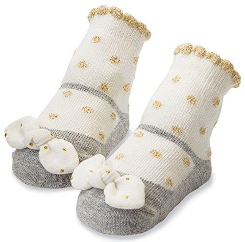 Mud Pie Socks White Polka