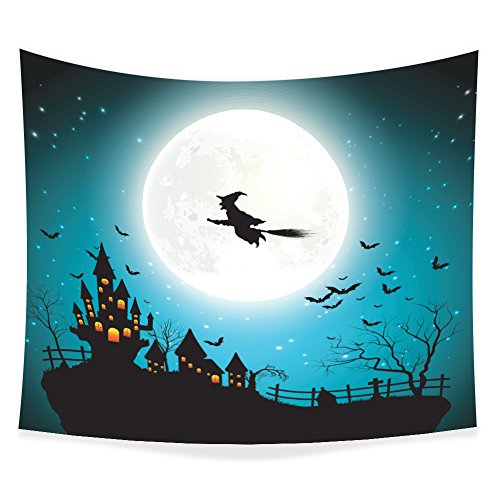 Tapestry Wall Hanging for Halloween, ZBLX Happy Halloween Hang Tapestry Wall Art for Your (Happy Halloween Nyc)