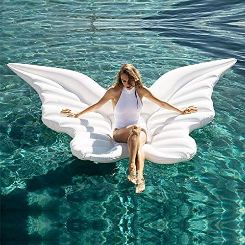 Inflatable Butterfly Floating Row Adults Kids Summer Beach Toy Swimming Pool Party Lounge Raft-White by WYL (Image #2)