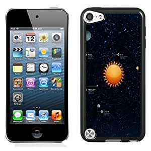 NEW Unique Custom Designed iPod Touch 5 Phone Case With Solar System Illustration_Black Phone Case