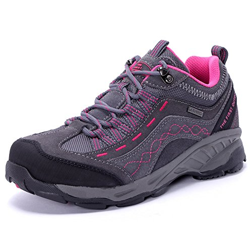 Waterproof Shoes Women Light TFO Hiking Outdoor For Lightweight Grey Walking Leather Sneaker by Trekking Sports IBxZS