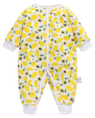 Kidsform Baby Romper Cotton Infant Pajamas Sleep and Play Newborn Bodysuit Sleepwear For Boys Girls 3-24 Months