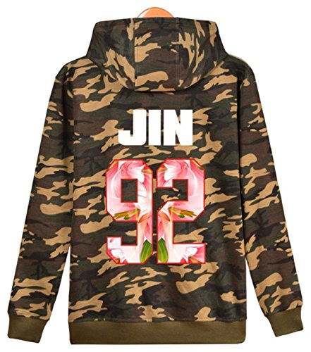 Boys Felpe Felpa Jimin con Winterpulli V Mostro Bangtan 92 Kook warmer JIN cappuccio BTS Rap Camou Jin Suga Pile Unisex J con Jung Hope SERAPHY tqx60Eq