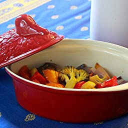 Chasseur 2.1-quart Red 'Duck' French Enameled Cast Iron Terrine