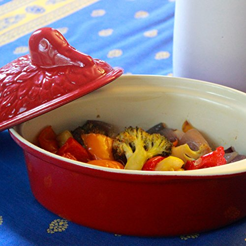 Chasseur 2.1-quart Red 'Duck' French Enameled Cast Iron Terrine by Chasseur (Image #4)