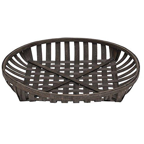 Hubert Tobacco Basket Round Chip Wood - 30