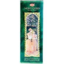 Night Queen - Box of Six 20 Stick Hex Tubes - HEM Incense Hand Rolled In India