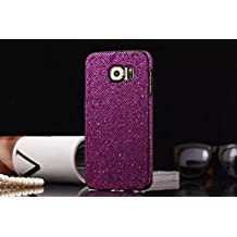 Tech Express (Tm) Plum Purple Solid Glitter Sequin Bling Diamond Luxury Sparkly Cute Girly Kawaii Pretty Hard Cover Case for Samsung Galaxy Note 5 G920