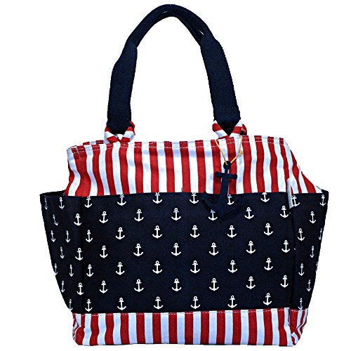 Red, White and Blue Anchor Everything Tote Bag by Caribbean Joe