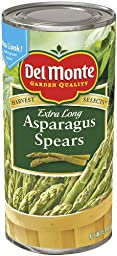 Del Monte Extra Long Green Asparagus Spears, 15-Ounce Cans (Pack of 12)