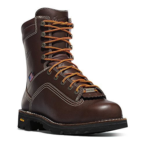 Danner Men's Quarry USA 8-Inch BR AT Work Boot,Brown,11 D - At Boots
