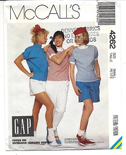 - McCall's # 4262 Misses' Top, Pants, Shorts and Culottes for Stretch Knits, Gap Sewing Pattern Size: Medium