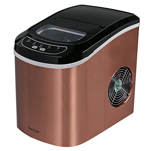 Northair HZB-12/SA Portable Ice Maker Machine Counter Top with 26lbs Daily Capacity Stainless Steel