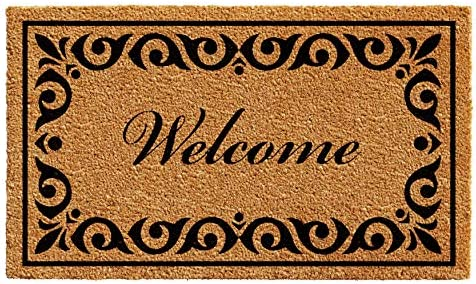 Calloway Mills 102242436 Breaux Welcome Doormat, 24 x 36 , Natural Black