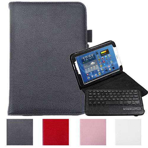 HDE Folding Leather Wireless Bluetooth Keyboard Case for Samsung Galaxy Note 8.0- Black